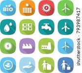 flat vector icon set   bio... | Shutterstock .eps vector #793987417