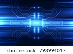 vector abstract futuristic... | Shutterstock .eps vector #793994017