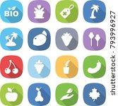flat vector icon set   bio... | Shutterstock .eps vector #793996927