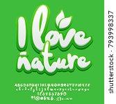 vector green eco friendly... | Shutterstock .eps vector #793998337