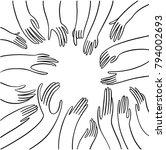 isolated vector doodle... | Shutterstock .eps vector #794002693