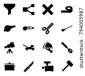 origami style icon set   funnel ... | Shutterstock .eps vector #794005987