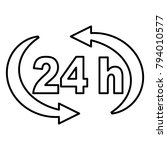 24 h   vector icon without  fill | Shutterstock .eps vector #794010577
