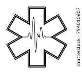 medical symbol of emergency... | Shutterstock .eps vector #794010607