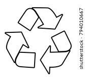 recycle   vector icon without ... | Shutterstock .eps vector #794010667