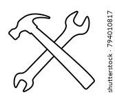 wrench and hammer   vector icon ... | Shutterstock .eps vector #794010817