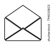 envelope   vector icon without  ... | Shutterstock .eps vector #794010823