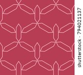 red and pale pink geometric... | Shutterstock .eps vector #794021137