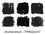 vector grunge shapes banners...   Shutterstock .eps vector #794026147