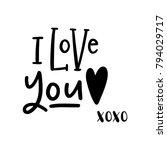 cute valentine's day lettering...   Shutterstock .eps vector #794029717