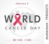 world cancer day globe...   Shutterstock .eps vector #794032273