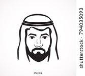 arabic man in traditional...   Shutterstock .eps vector #794035093