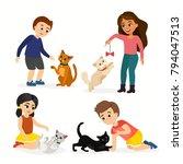 vector illustration set of...   Shutterstock .eps vector #794047513