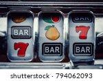 gambling slot machine in close... | Shutterstock . vector #794062093