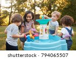 mother and young children... | Shutterstock . vector #794065507
