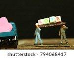 construction worker figure... | Shutterstock . vector #794068417