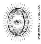 ornate mystic eye inside the... | Shutterstock .eps vector #794073223