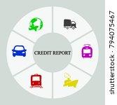 business infographics. pie... | Shutterstock .eps vector #794075467