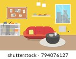 living room with furniture....   Shutterstock .eps vector #794076127