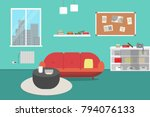 living room with furniture....   Shutterstock .eps vector #794076133