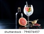 fancy gin and tonic selection... | Shutterstock . vector #794076457