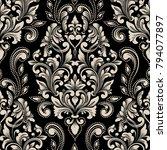vector damask seamless pattern... | Shutterstock .eps vector #794077897
