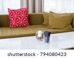 beige classic sofa with...   Shutterstock . vector #794080423