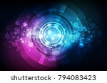 abstract technology concept... | Shutterstock .eps vector #794083423