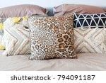 tribal pattern cushion setting...   Shutterstock . vector #794091187
