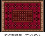 Luxurious Burgundy Carpet With...