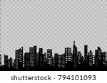 silhouette of the city in a... | Shutterstock .eps vector #794101093