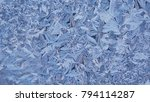 beautiful window freezing from...   Shutterstock . vector #794114287