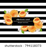 juicy peach fruits card... | Shutterstock .eps vector #794118373