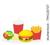 food fast icon sandwich donut...   Shutterstock . vector #794120737