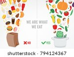 healthy lifestyle concept.... | Shutterstock .eps vector #794124367