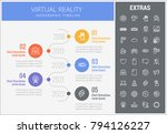 virtual reality infographic... | Shutterstock .eps vector #794126227