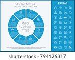 social media infographic... | Shutterstock .eps vector #794126317