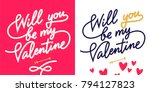 will you be my valentine ... | Shutterstock .eps vector #794127823