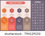 healthy food infographic...   Shutterstock .eps vector #794129233