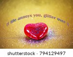 red heart with glitter | Shutterstock . vector #794129497