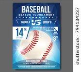 baseball poster vector. sport...   Shutterstock .eps vector #794134237