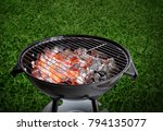 barbecue grill on white... | Shutterstock . vector #794135077
