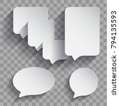 collection of isolated speech... | Shutterstock .eps vector #794135593