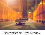 skateboarding lifestyle extreme ...   Shutterstock . vector #794139367