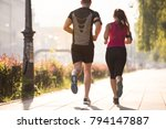 urban sports  healthy young... | Shutterstock . vector #794147887