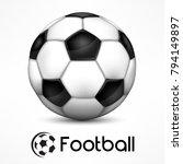 realistic soccer ball  european ... | Shutterstock .eps vector #794149897