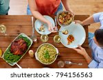 food  thanksgiving day  eating... | Shutterstock . vector #794156563
