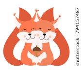 hugging squirrel postcard...