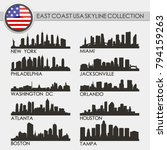 most famous east coast usa... | Shutterstock .eps vector #794159263