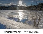 sunny winter day in the... | Shutterstock . vector #794161903